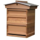 Cedar Hive - Nattional Size - ASSEMBLED - 1st QUALITY from Caddon Hives - STD BROOD - Gabled Roof  - Framed Wire Queen Excluder - No Frames