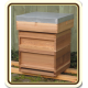 Cedar Hive - National Size - PRE ASSEMBLED - 1st QUALITY from Caddon Hives - STD BROOD SIZE - No Frames - Framed Wire Queen Excluder